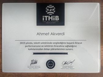 Akmina kumaş İhracat Başarıları 2019