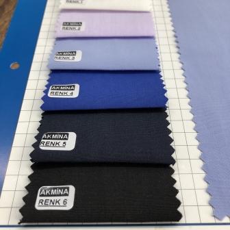 cvc gömleklik kumaş kartelasından harman karışım % 50 cotton % 50 poly.