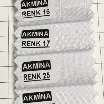 G - 05 Desenli kartelasından çeşitli desenli beyaz kumaşlar