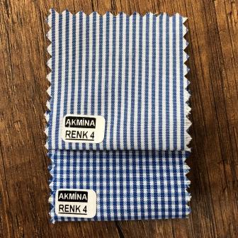 G- 10 çizgili ve pitikare gömleklik kumaş renk 4 konbin