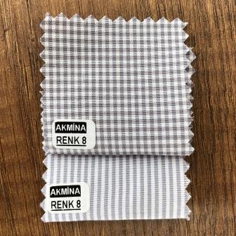 G- 10 çizgili ve pitikare gömleklik kumaş renk 8 konbin