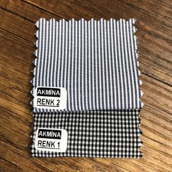 G- 11 çizgili ve pitikare gömleklik kumaş renk konbin.