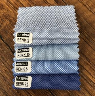 oxfort gömleklik kumaş renk mavi 5 - mavi 15 - mavi 6 - sax 26