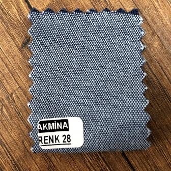 Şambre / şambre kumaş kartelasında renk 28