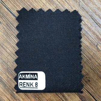 Şambre / şambre kumaş kartelasında siyah renk 8